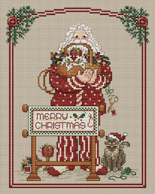 Stitching Santa - Cross Stitch Pattern