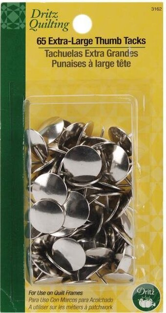 ".625"" 65/Pkg Dritz Quilting Extra Large Thumb Tacks"