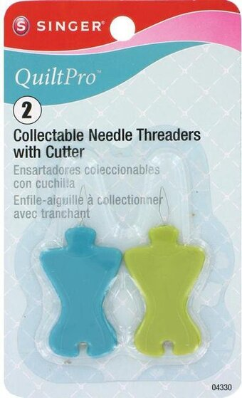 2/Pkg QuiltPro Collectable Needle Threaders W/Cutter