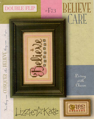 Living Double Flip - Believe/Care - Cross Stitch Pattern