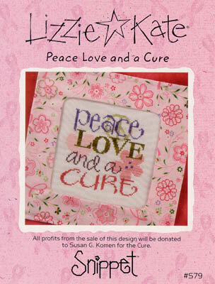 Peace Love And A Cure - Cross Stitch Pattern