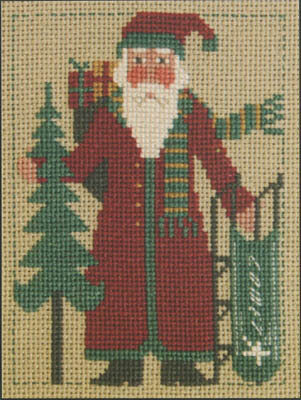 2008 Schooler Santa - Cross Stitch Pattern