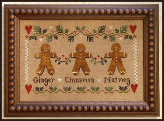 Gingerbread Trio - Cross Stitch Pattern