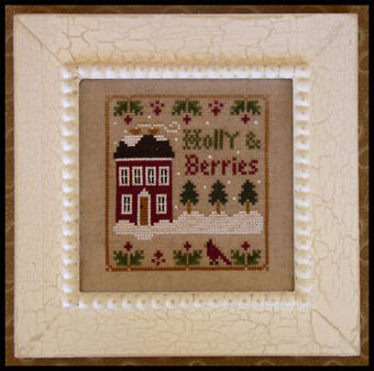 Holly & Berries - Cross Stitch Pattern
