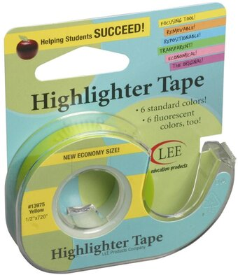 Yellow Crafter's Easy See Removable Craft Tape