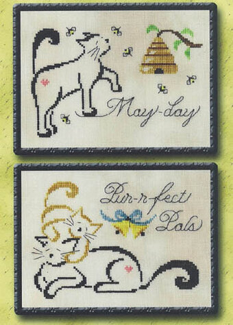 May/June Monthly Britty Kitty - Cross Stitch Pattern