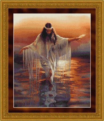 Golden Reflections - Cross Stitch Pattern