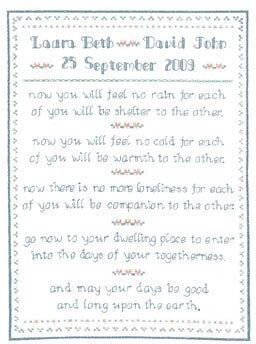 Wedding Prayer - Cross Stitch Pattern