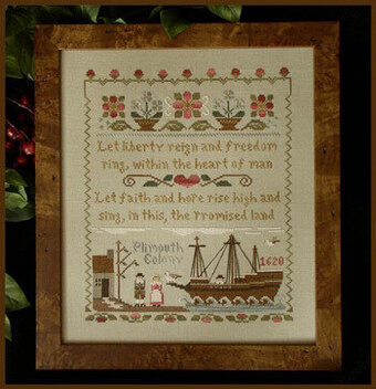 Mayflower Landing - Cross Stitch Pattern