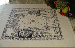 Nativity Story - SQUARE TABLE TOPPER - Cross Stitch Pattern