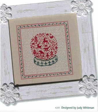 French Country Snow Globe - Cross Stitch Pattern