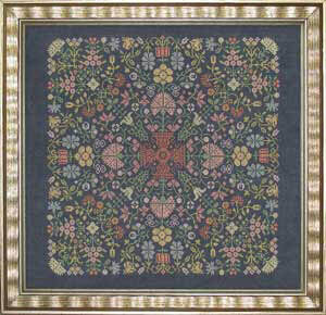Quaker Floral Puzzle - Cross Stitch Pattern
