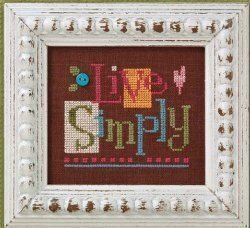 Quick- It Live Simply - Cross Stitch Pattern