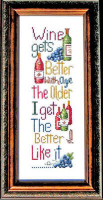 Aged Wine - Cross Stitch Pattern