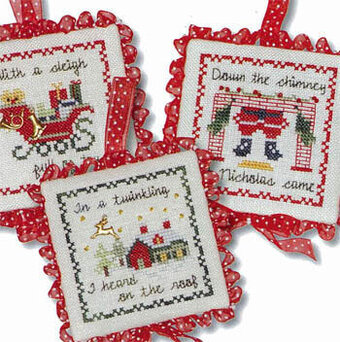 Twas The Night Ornaments III - Cross Stitch Pattern