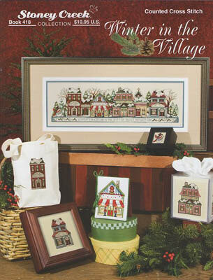 Winter in the Village - Cross Stitch Pattern