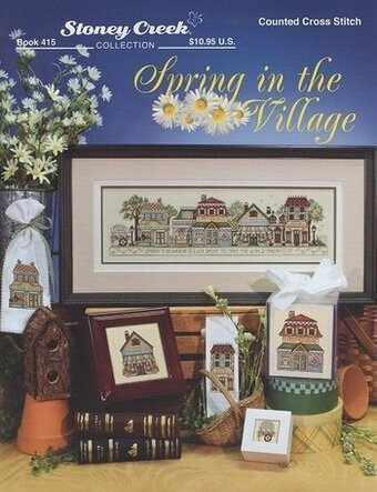 Spring in the Village - Cross Stitch Pattern
