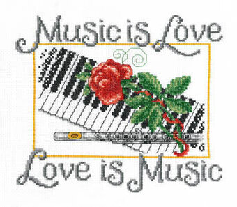 Music is Love - Cross Stitch Pattern