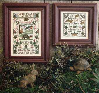 Tortoise and the Hare - Cross Stitch Pattern