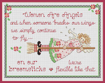 Women are Angels - Cross Stitch Pattern