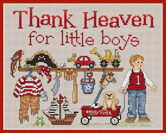 Thank Heaven For Little Boys - Cross Stitch Pattern