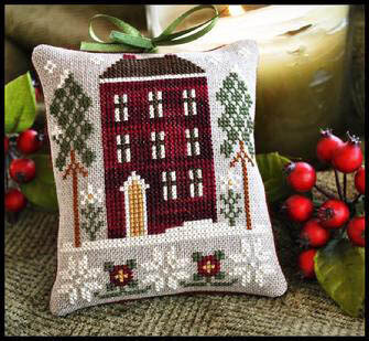 Red House In Winter - Cross Stitch Pattern