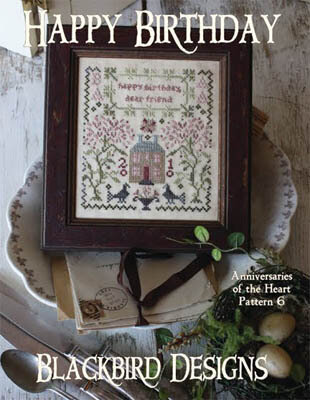 Anniversaries of the Heart 6 - Happy Birthday - Cross Stitch