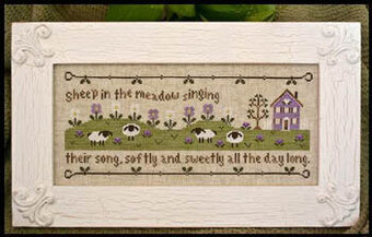 Sheep In The Meadow - Cross Stitch Pattern