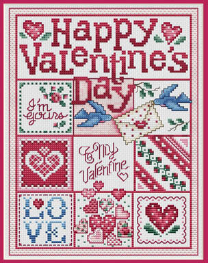 Happy Valentine's Day - Cross Stitch Pattern