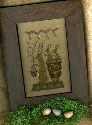 Delivering Spring Blossoms - Cross Stitch Pattern