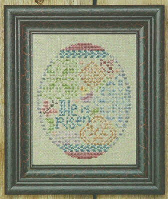 Quaker Easter Egg - Cross Stitch Pattern