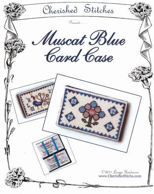 Muskat Blue Card Case - Cross Stitch Pattern