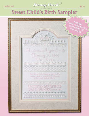 Sweet Child's Birth Sampler - Cross Stitch Pattern