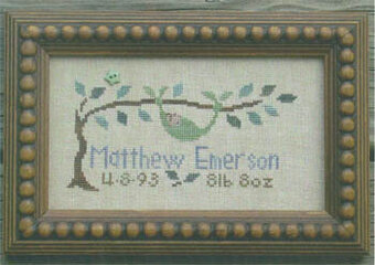 Peapod Baby Sampler - Cross Stitch Pattern