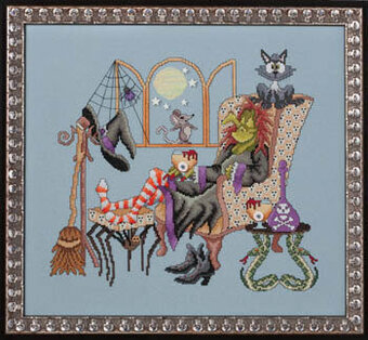 Come Sit A Spell - Cross Stitch Pattern