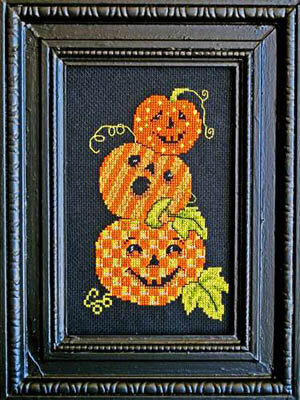 Triple Jack O Lanterns - Cross Stitch Pattern