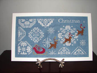 Snowy Christmas Quaker Style - Cross Stitch Pattern