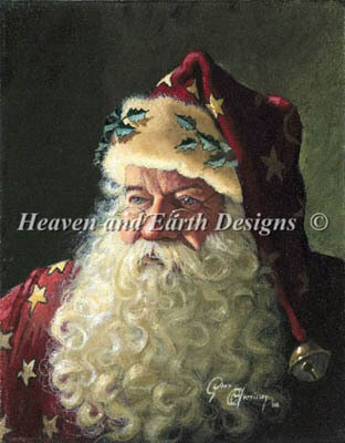 Portrait of Father Christmas - Cross Stitch Pattern