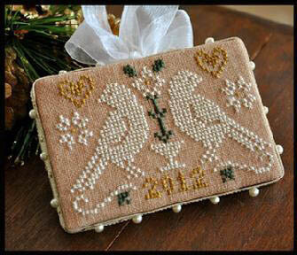 2012 Ornament #3 Quaker Birds - Cross Stitch Pattern