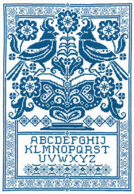 Sampler in Blue - Cross Stitch Pattern