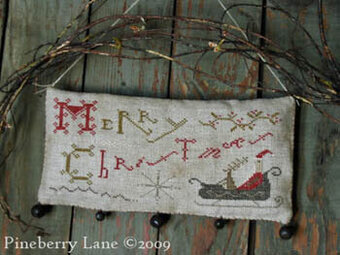 Merry Christmas Hanging Sampler  - Cross Stitch Pattern