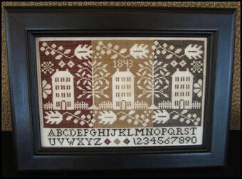 Coverlet Houses - Cross Stitch Pattern