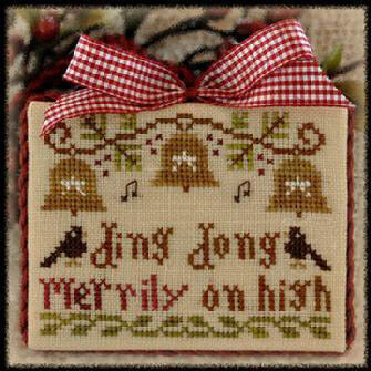 2012 Ornament 5 Ding Dong - Cross Stitch Pattern