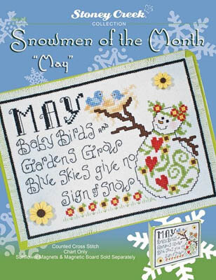 Snowmen Of The Month - May - Cross Stitch Pattern