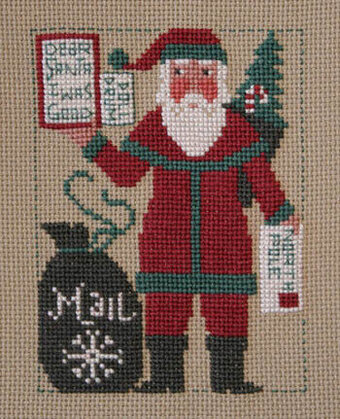 2012 Schooler Santa - Cross Stitch Pattern
