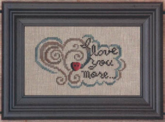 I Love You More - Cross Stitch Pattern (button included)