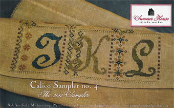 Calico Sampler #4  (J K L) - Cross Stitch Pattern
