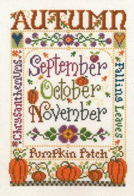 Autumn Season - Cross Stitch Pattern