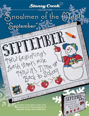 Snowmen Of The Month - September - Cross Stitch Pattern
