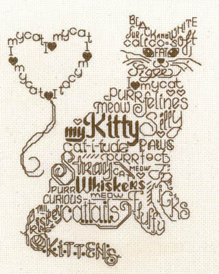 Let's Purr - Cross Stitch Pattern